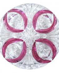 Glasschale mit Deckel und Blumenmuster