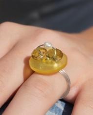Silberring mit Perlen